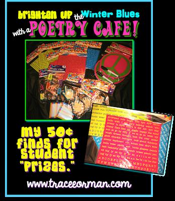 Poetry cafe raffle or door prizes ideas www.traceeorman.com