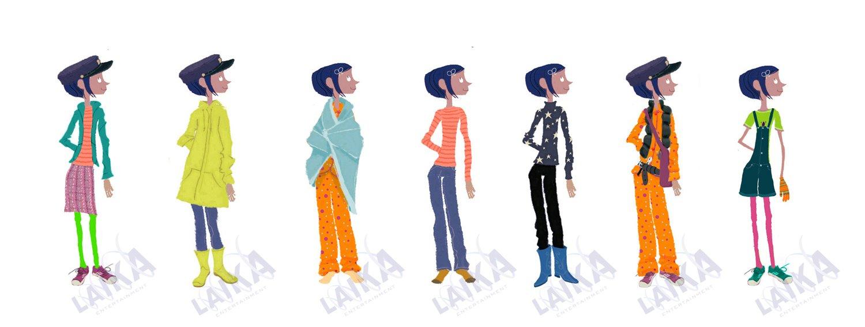 Character Designs da serie Pig Goat Banana Cricket, da Nick