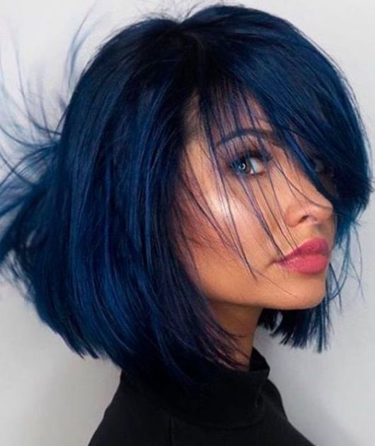 Tudo Sobre Pintar O Cabelo De Preto Azulado Com Azul De
