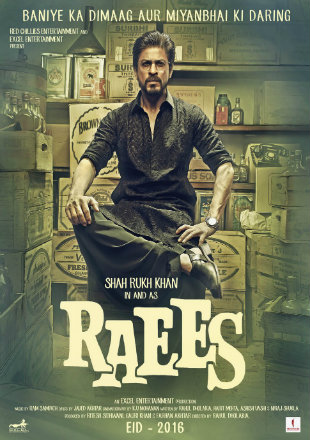 Poster of Raees 2017 Full Hindi Movie Download BRRip 720p