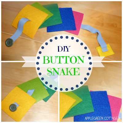 felt button snake for kids