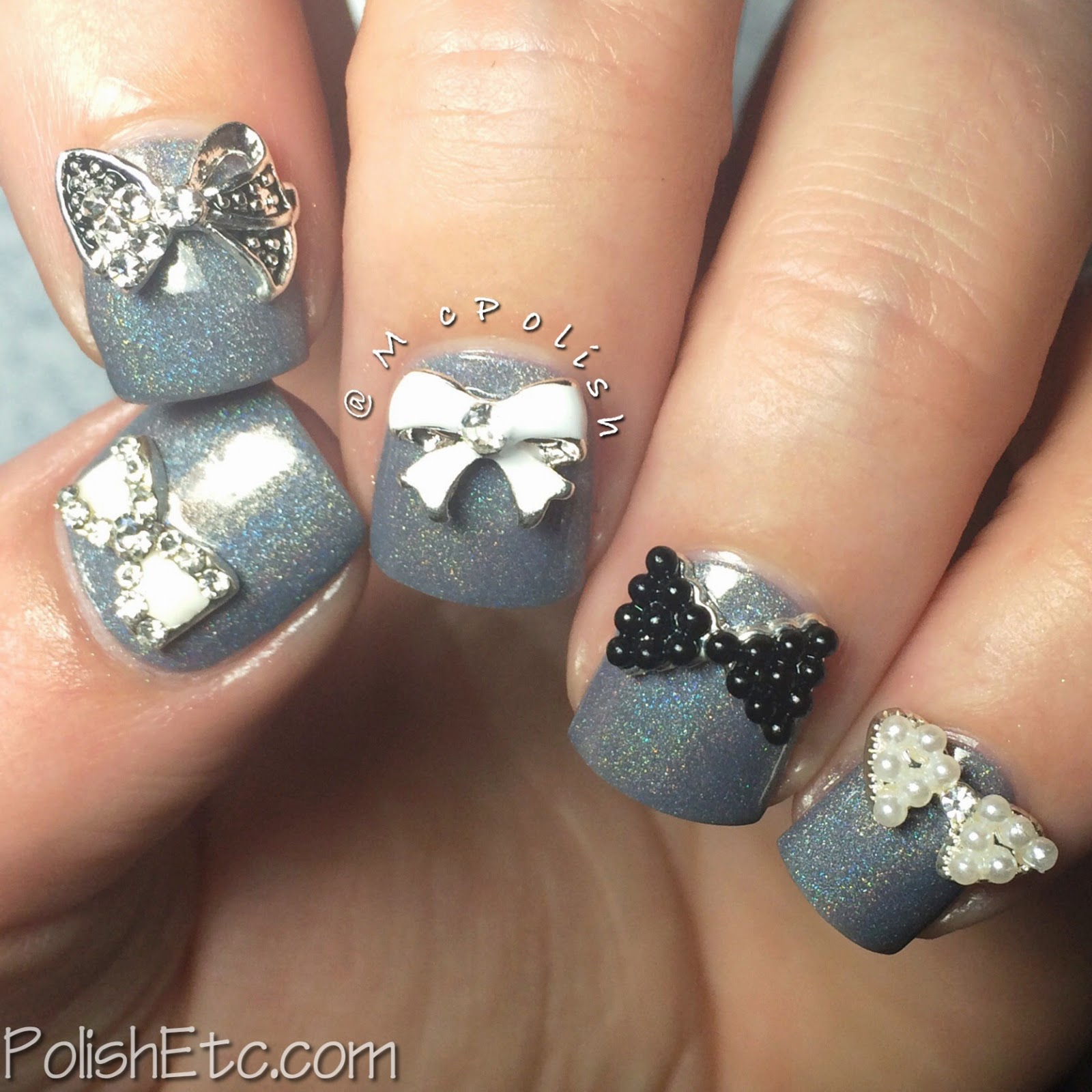 #31dc2014 - 31 Day Nail Art Challenge 2014 by McPolish - B&W