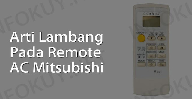 arti lambang pada remote ac mitsubishi