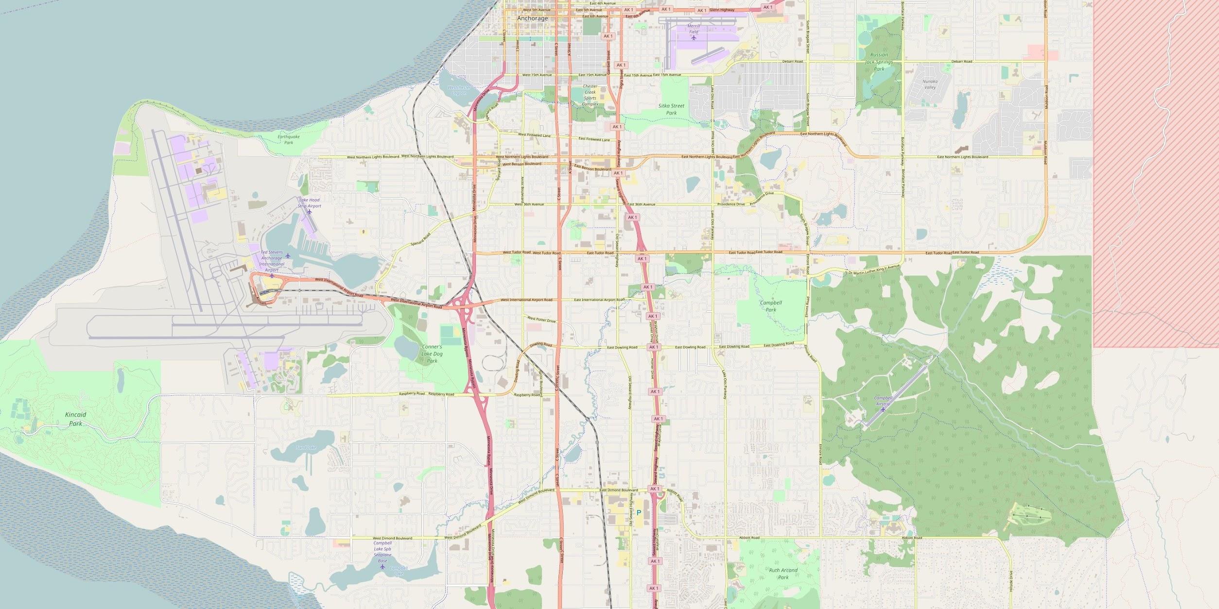 Anchorage, Alaska Map - Car Radio | GPS