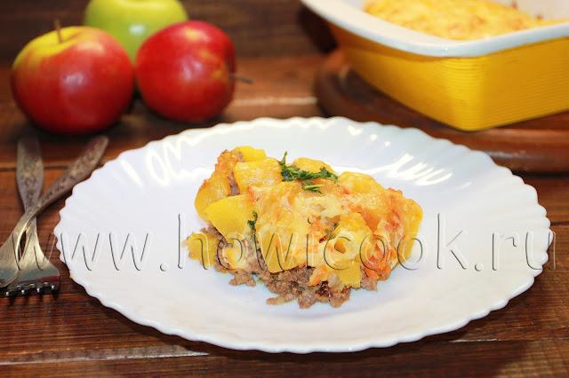 рецепт запеканки с кабачками и фаршем