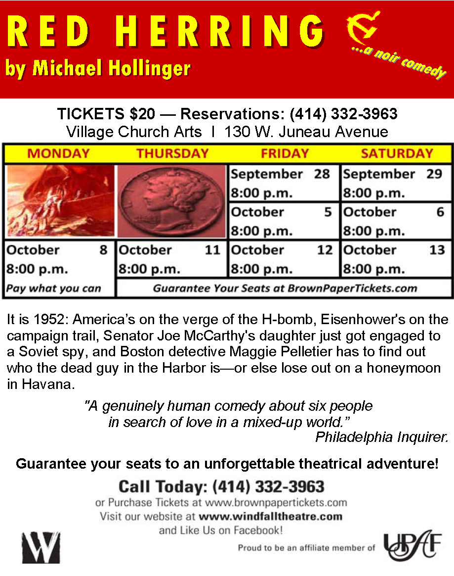 RED HERRING by Michael Hollinger - Windfall Theatre