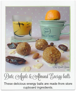 These delicious energy balls, easily made from store cupboard ingredients, contain no added sugar or fat making them perfect for snacking upon when the munchies hit.