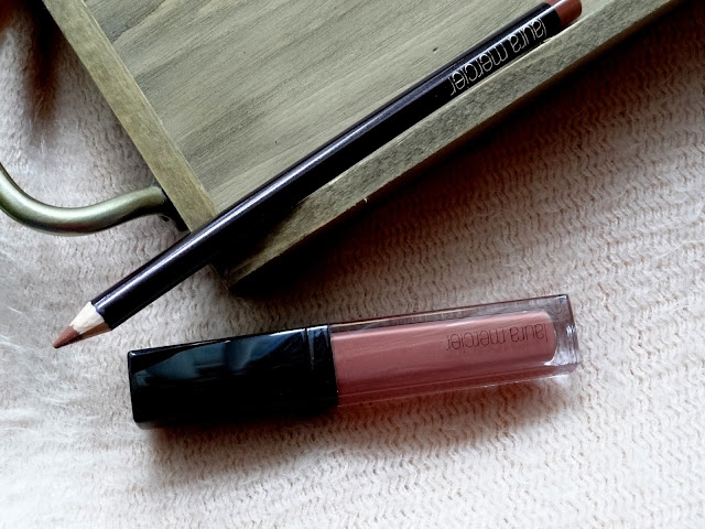 Laura Mercier Lip Pencil in Chestnut and Lip Glace in Blush