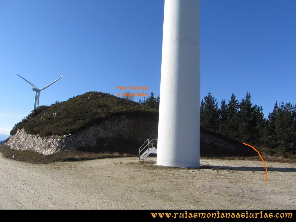 Ruta Sierra Bufarán, picos Degollada o Grande y Cotera: acceso desde el segundo molino a la cumbre de la Degollada o Pico Grande