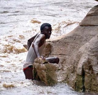Okob at the riverbank