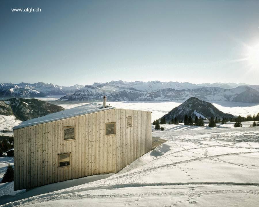 Chalet suizo contemporáneo de madera