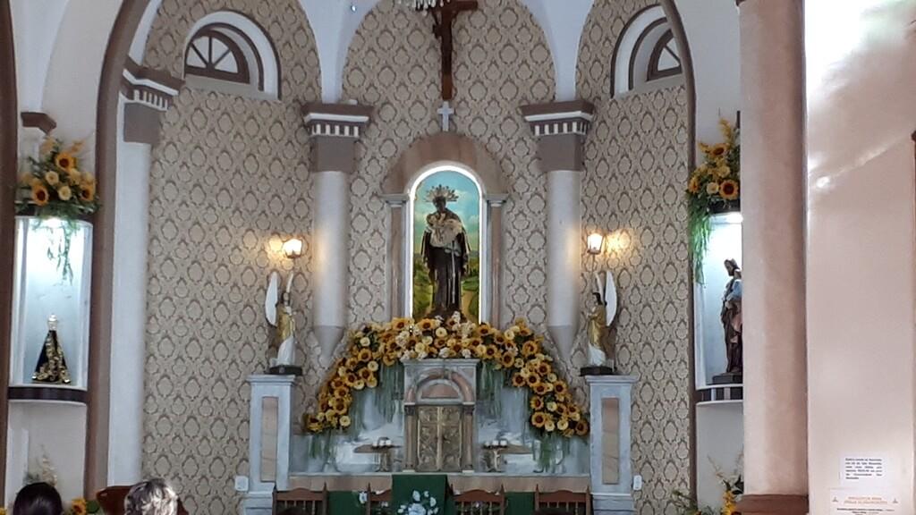 Interior da Igreja de São Benedito em Aparecida