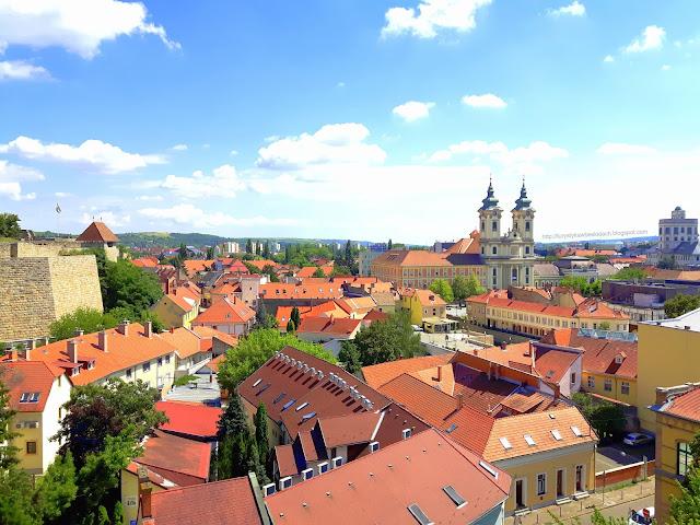 Zapierająca Dech Panorama Pieknego Miasta Eger na Węgrzech