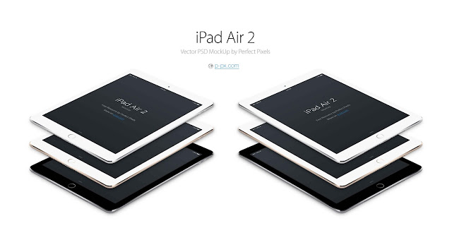 iPad Air 2 PSD Mockup