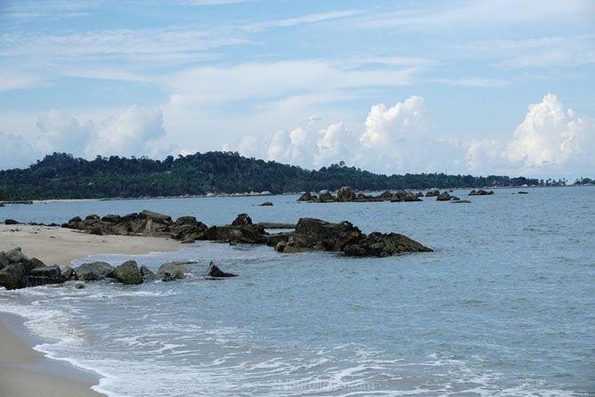 Pemandangan di Pantai Tongaci Bangka