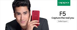 OPPO เปิดตัว F5 สุดยอดสมาร์ทโฟนเพื่อการเซลฟี่ขั้นสูง ชู A.I. Beauty Recognition Technology พร้อมหน้าจอแสดงผลแบบ Full Screen