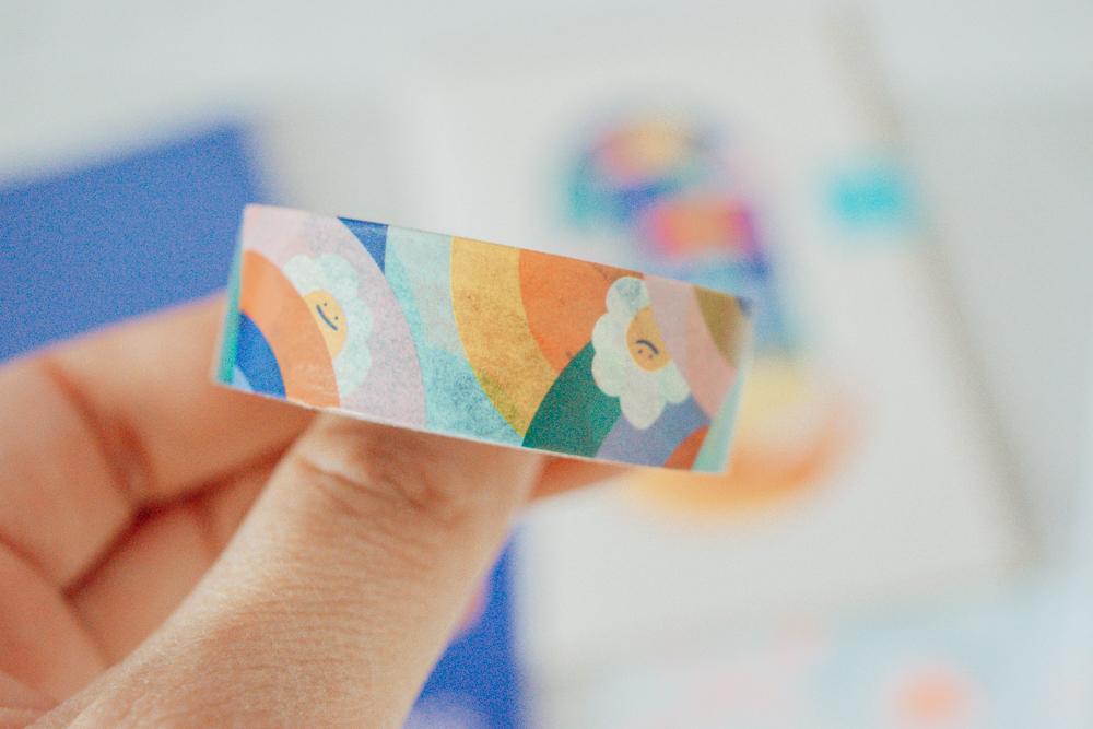 Washi tape close up