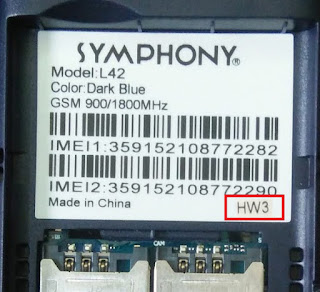Symphony L42 HW3 Dark Blue Flash File