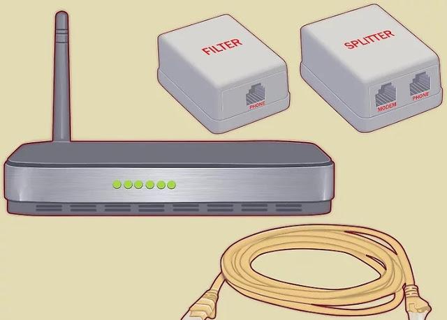 تثبيت مودم ADSL ومعدات ADSL