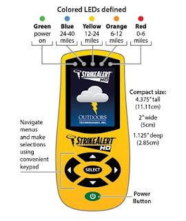 Jual Strike Alert HD Lightning Detector - Alat Deteksi Kilat Petir Tlp 08128222998