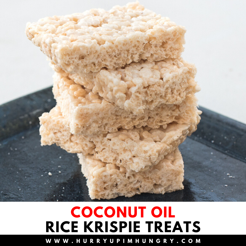 Rice krispie treats recipe that uses coconut oil instead of butter