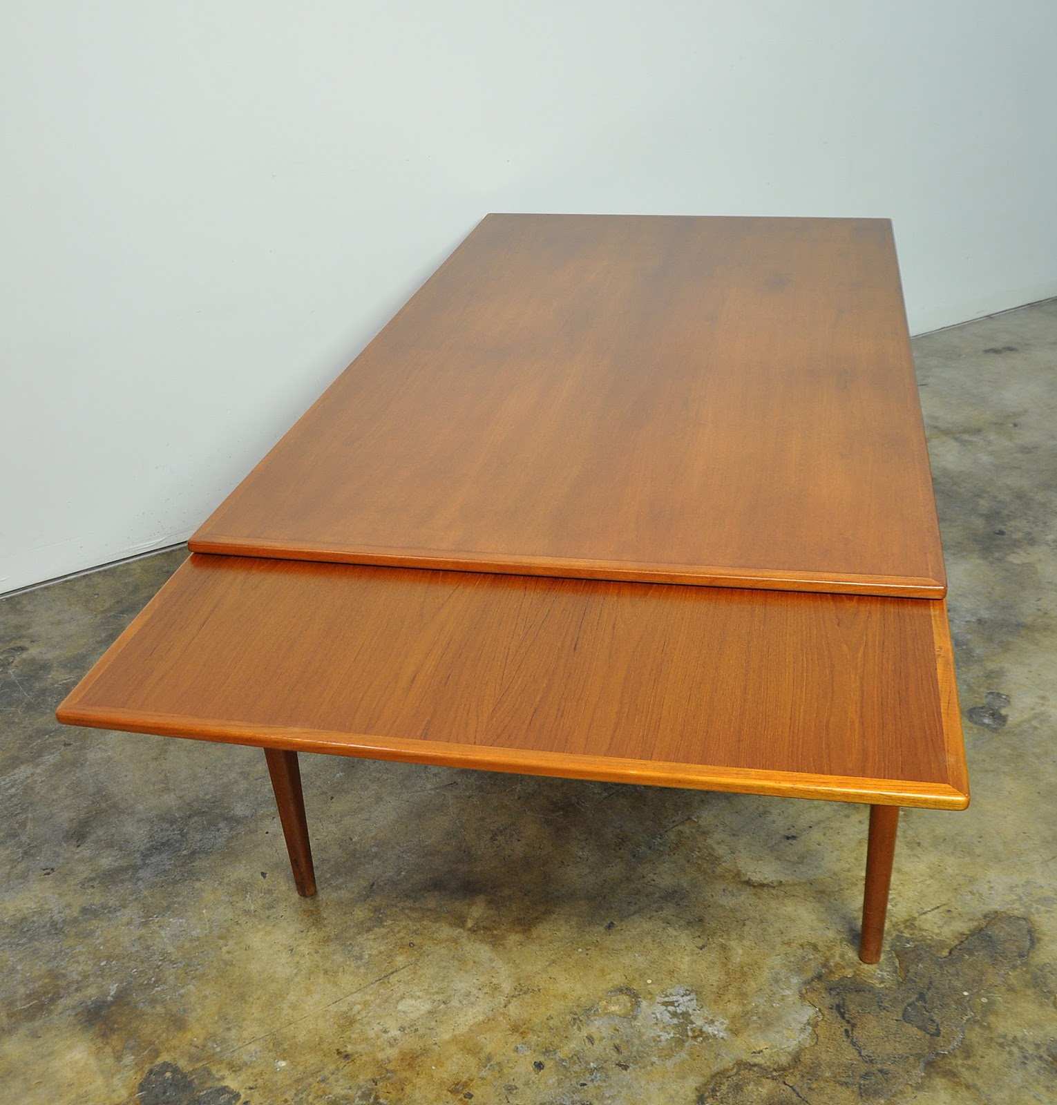 Dining Table 10: SELECT MODERN: Large Niels Moller Teak Expandable 10