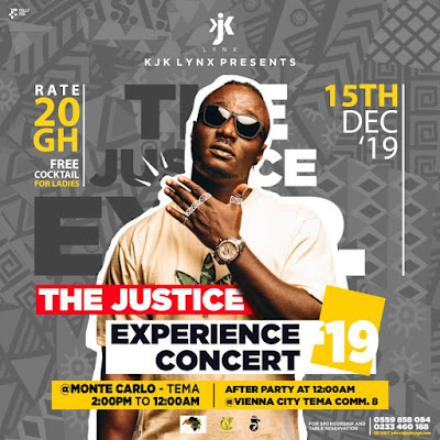 """The Justice Experience Concert"" 2019 by DJ Justice GH announced, scheduled on December 15!"