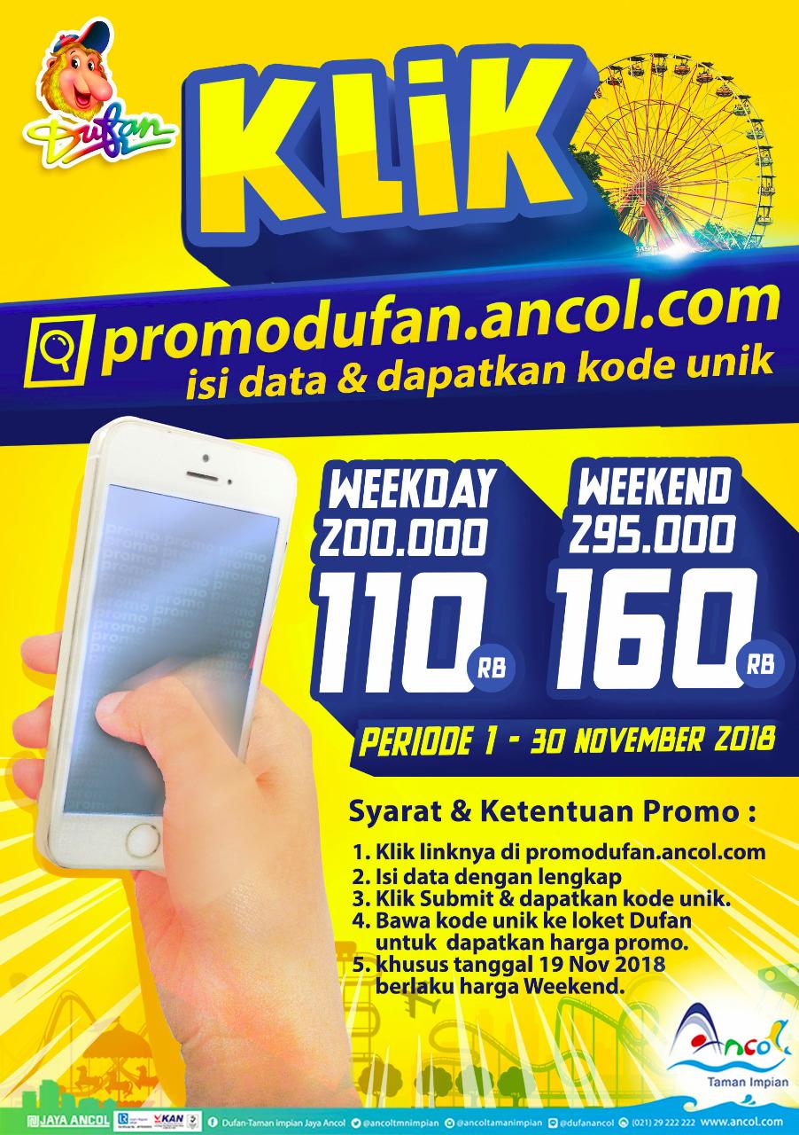 Ancol - Promo Tiket Harga Spesial Dufan Bulan November 2018
