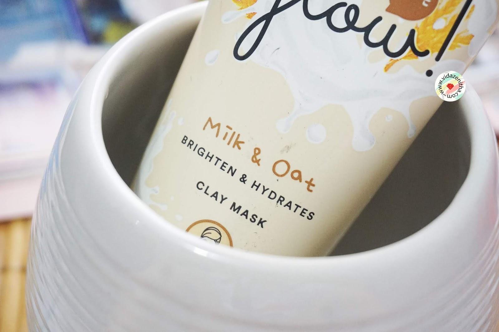 review masker everwhite milk oat clay mask menghilangkan komedo memutihkan kulit everwhite masker mencerahkan