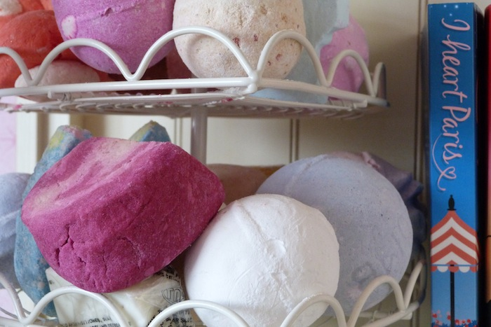 a picture of bath bombs and bubble bars