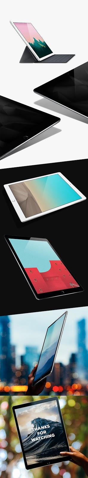 Smartphone & Tablet Mockup PSD Terbaru Gratis - iPad Pro Mockups