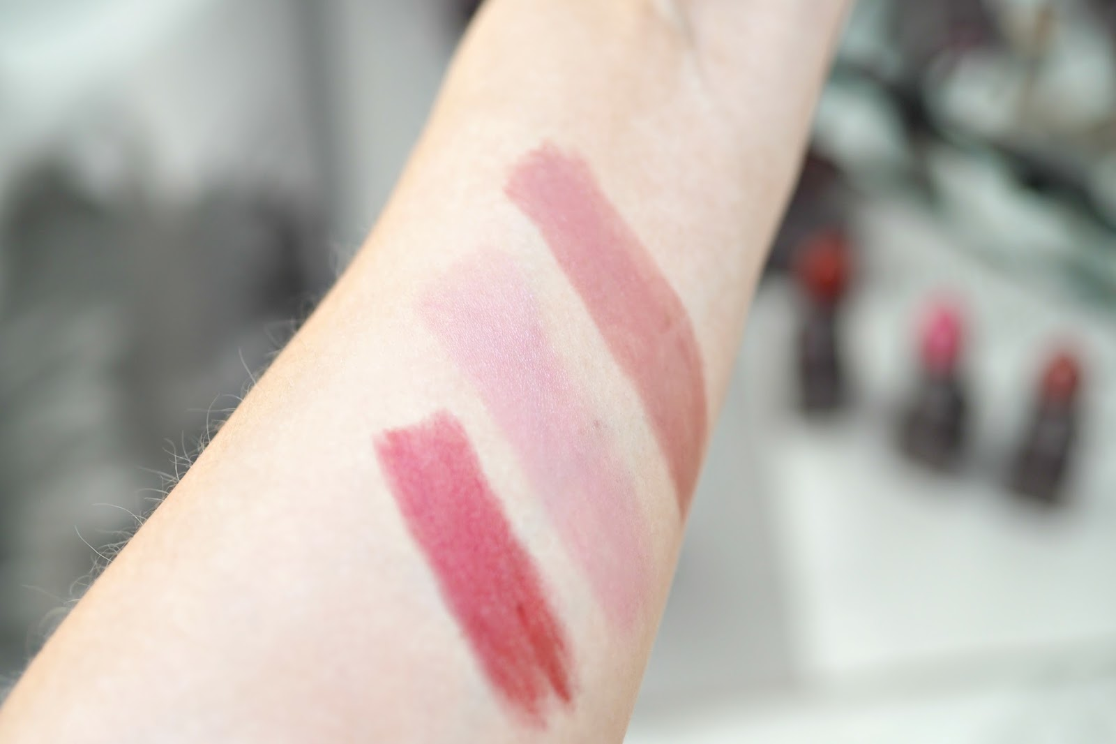 Burt's Bees Satin Lipsticks swatches
