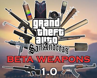 gta sa beta weapons mod