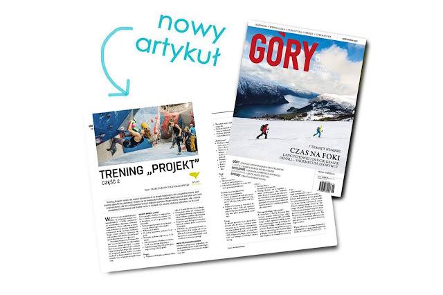magazyn GÓRY numer 277 wnętrze i artykuł Trening Projekt