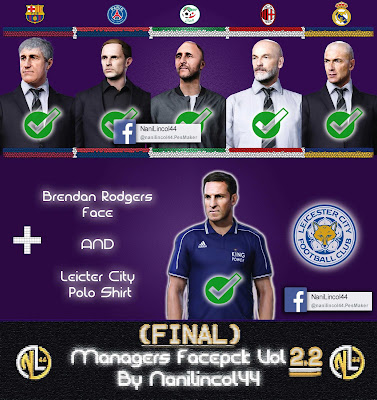 Managers Facepack Vol 2.2 (FINAL) For PES 2020 By Nanilincol44