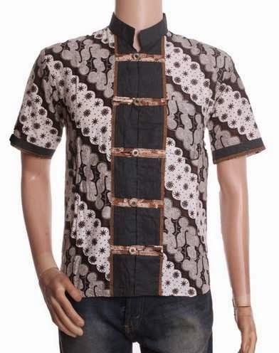 Contoh model baju muslim batik pria trendy