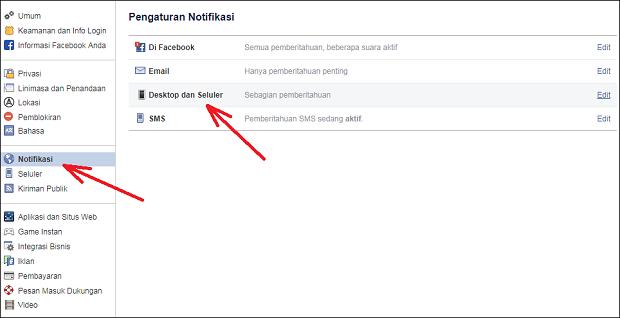 Cara Menonaktifkan / Aktifkan Notifikasi Facebook Desktop di Google Chrome