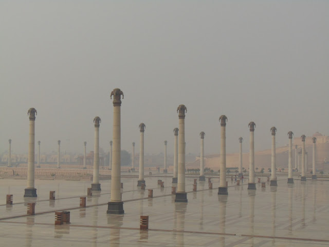 pillars in ambedkar park