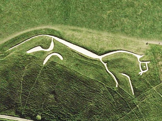 White Horse of Uffington satellite image