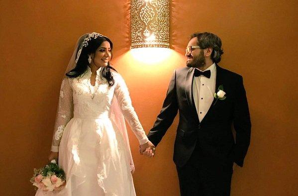 بالصور زواج الفنانة السعودية مروة سالم ومحمد سلامة