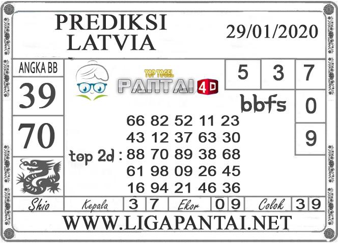 PREDIKSI TOGEL LATVIA PANTAI4D 29 JANUARI 2020