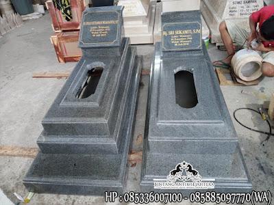 Jual Kijing Makam Granit Hitam, Makam Granit Muslim, Kuburan Makam Batu Granit