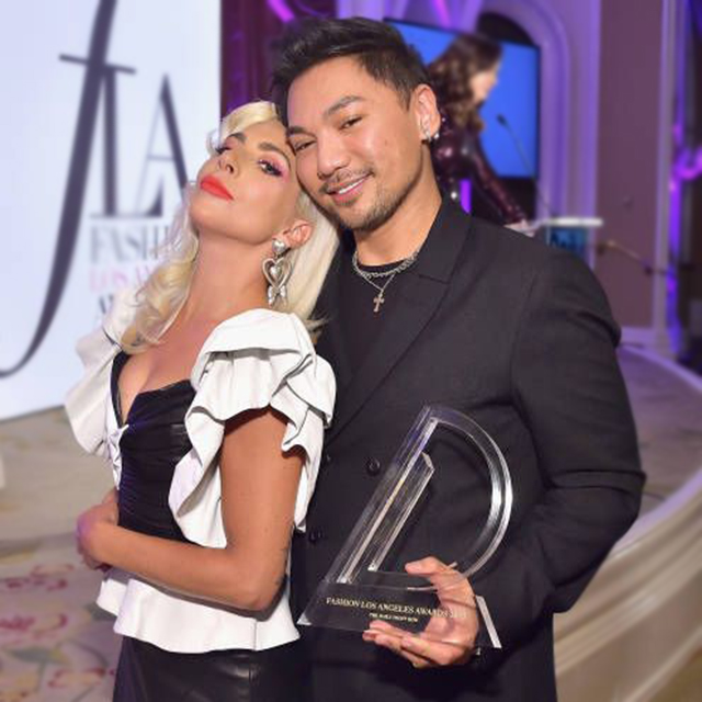 Lady Gaga Honors Frederic Aspiras at Fashion Los Angeles Awards 2019