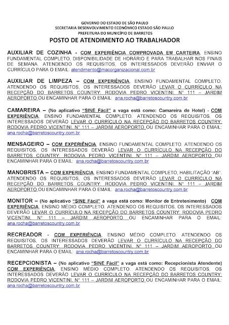 VAGAS DE EMPREGO DO PAT BARRETOS PARA 04-09-2020 PUBLICADAS NA TARDE DE 03-09-2020 - PAG. 2