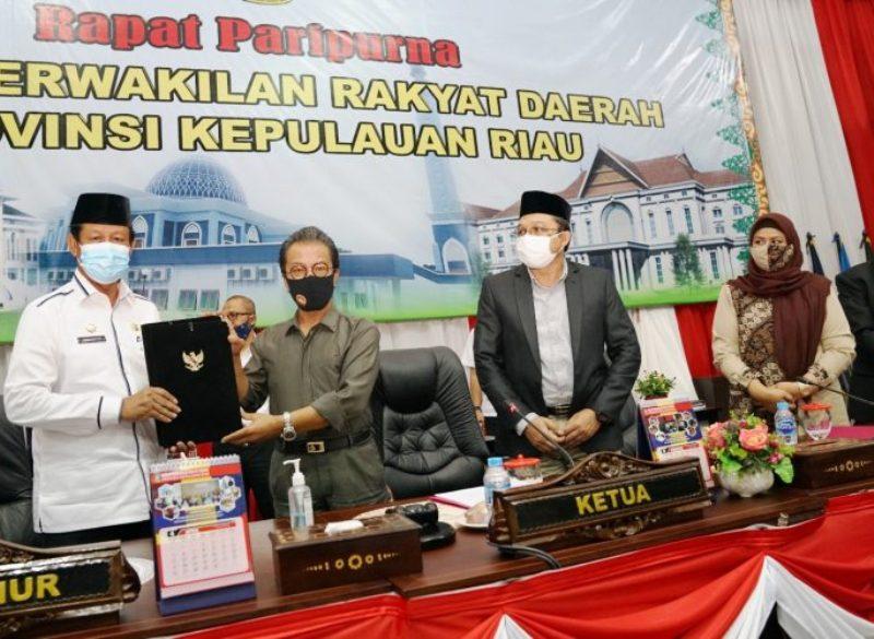 Pemprov dan DPRD Setujui Ranperda Perumda Tirta Kepri Menjadi Perda