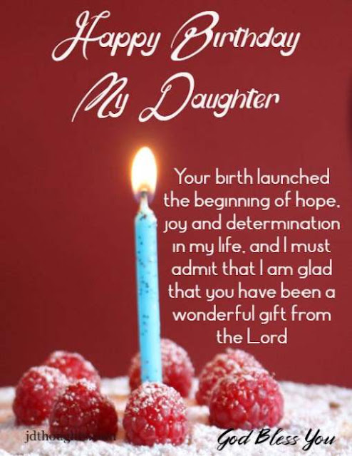Happy birthday wishes to daughter