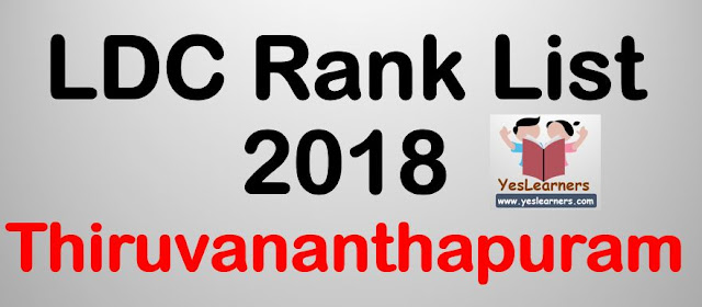 LDC Rank List 2018 - Thiruvananthaputam