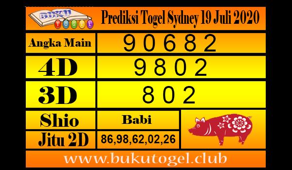 Prediksi Togel Sydney 19 Juli 2020
