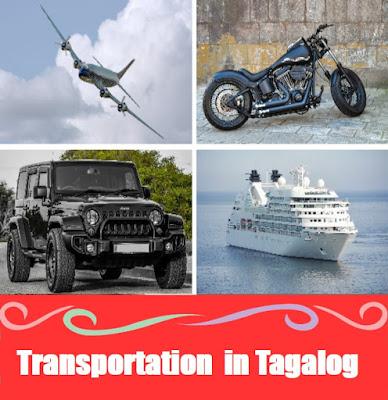 Transportation Vocabulary : Word List in Tagalog