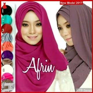 RYB034B Hijab Jilbab Cantik Afrin Murah Siffon BMG Online Shop